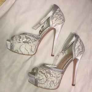 34e7c56f53a De Blossom Collection Shoes - David s bridal platform heels